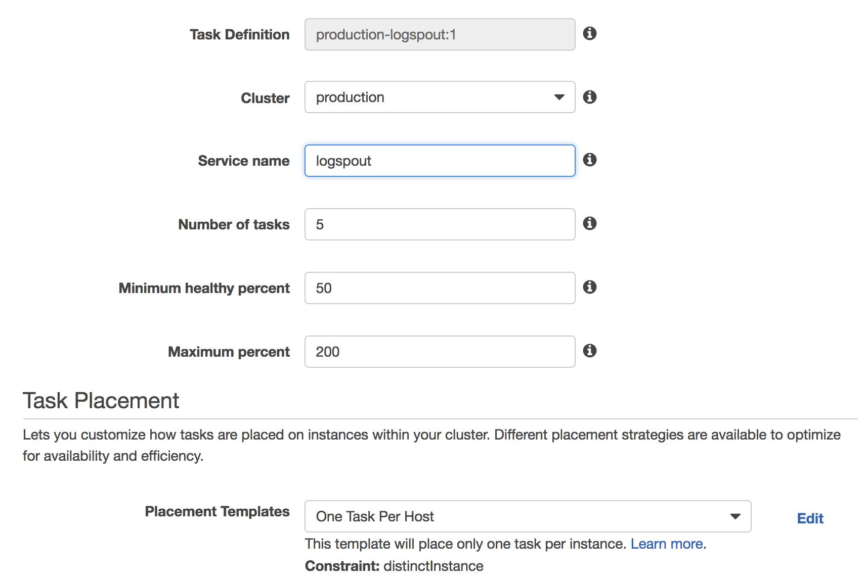Sending logs from AWS ECS using Logspout –
